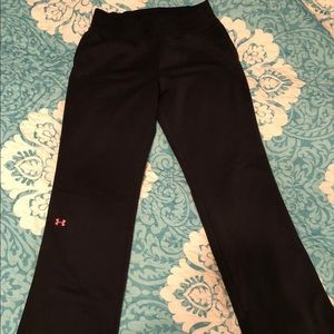 Under armour breast cancer pink sweat pants black